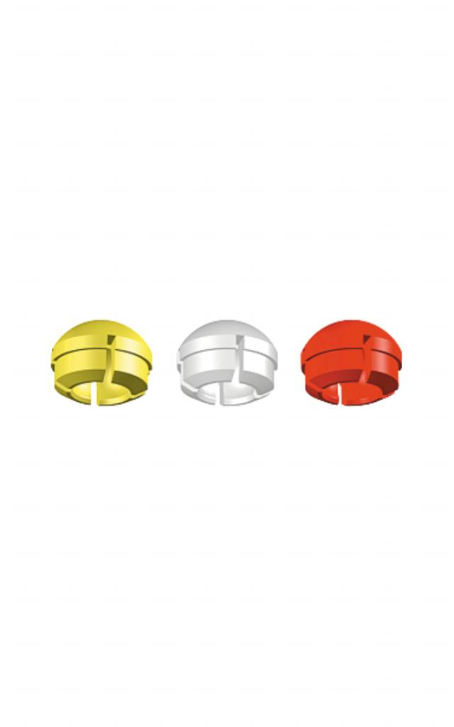 ALPHADENT NV 1234 - PRECI CLIX Matrizen: Kombinationspackung 2 gelb, 2 weiß, 2 rot
