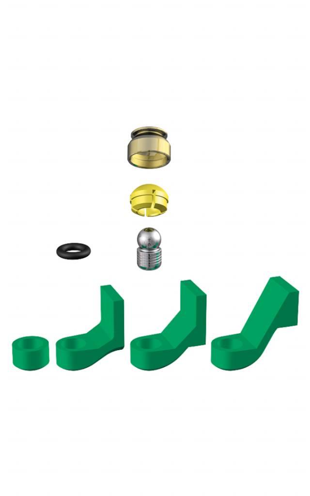 ALPHADENT NV 1271 - PRECICLIX TI-TI: Matrizengehäuse zum Einpolymerisieren, Patrize zum Einkleben