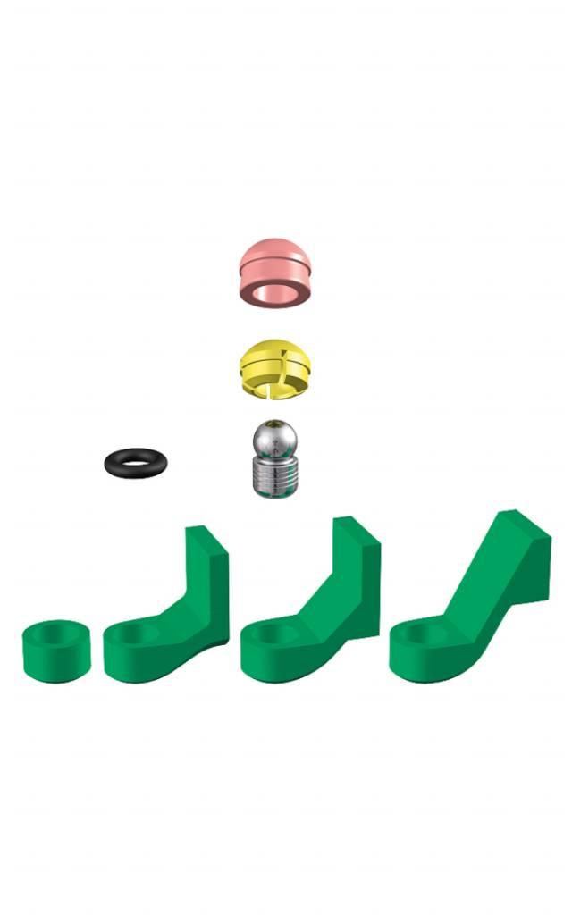 ALPHADENT NV 1272 - PRECI-CLIX P-TI: Dublierhilfsteil für Modellguss, Titanpatrize zum Einkleben