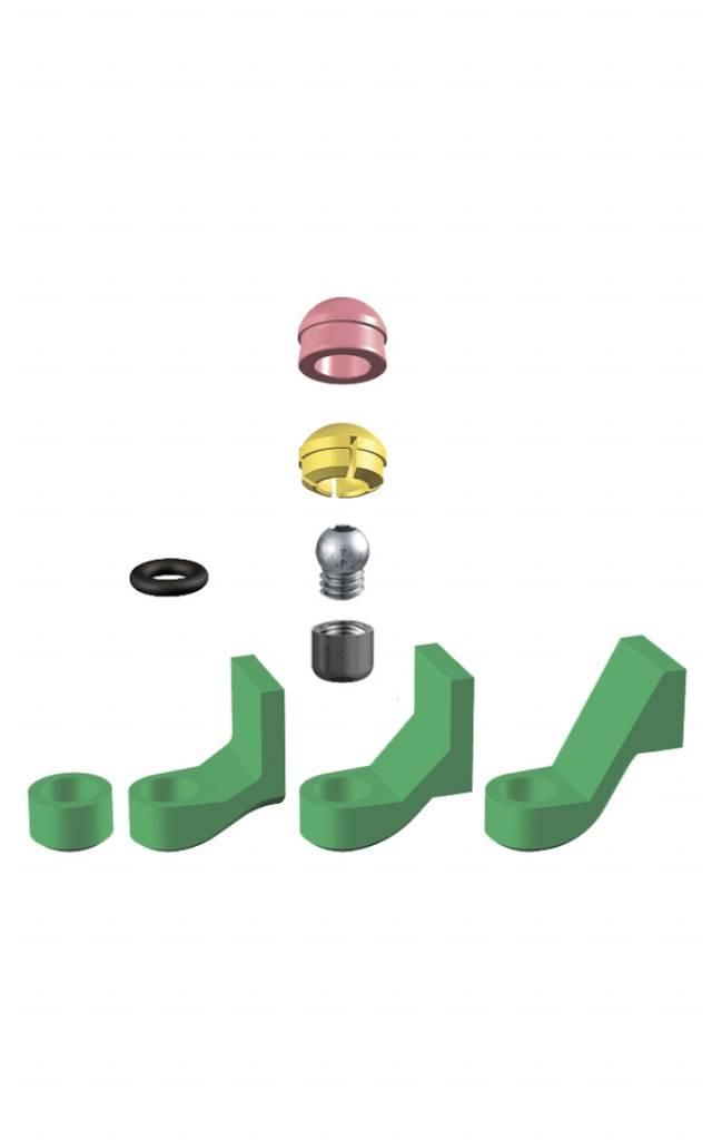 ALPHADENT NV 1277 - PRECI-CLIX P-V: Dublierhilfsteil für Modellguss, Patrize mit Gewinde zum Einkleben