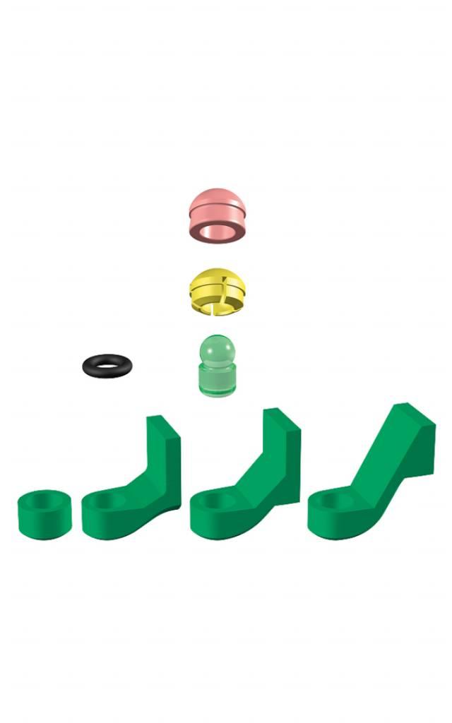 ALPHADENT NV 1282 - PRECI-CLIX P-P: Dublierhilfsteil für Modellguss, Kunststoffpatrize zum Gießen