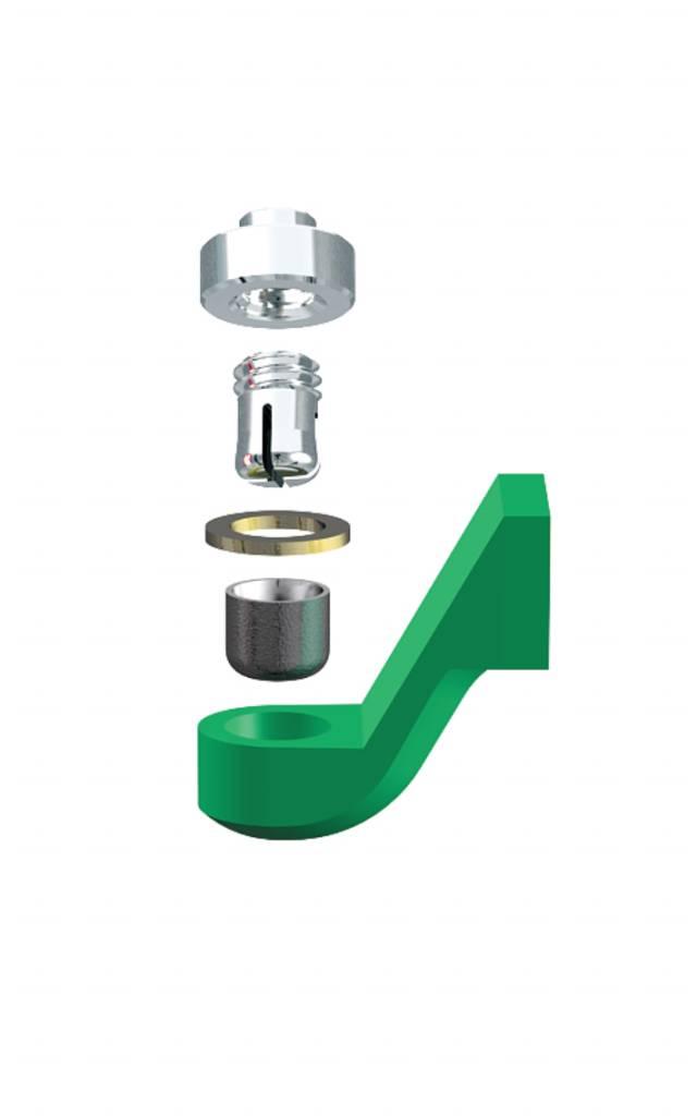 ALPHADENT NV RE 0161 TI - CEKA REVAX M2: Matrize zum Einkleben, Retention zum Löten oder Lasern