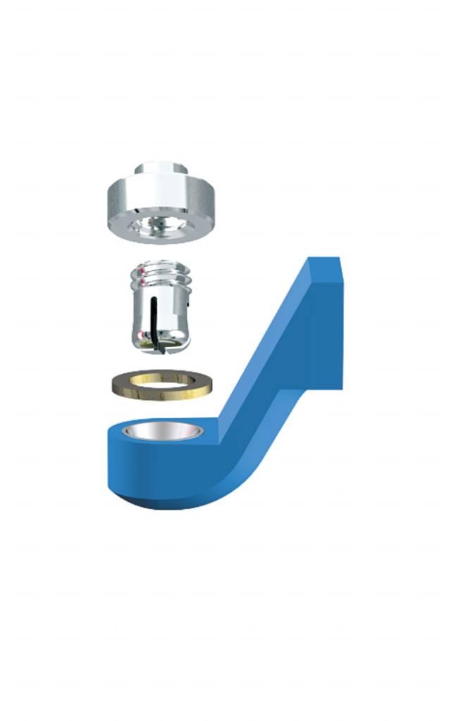 ALPHADENT NV RE 0161 NP - CEKA REVAX M2: Matrize zum Angießen an NEM, Retention zum Löten oder Lasern