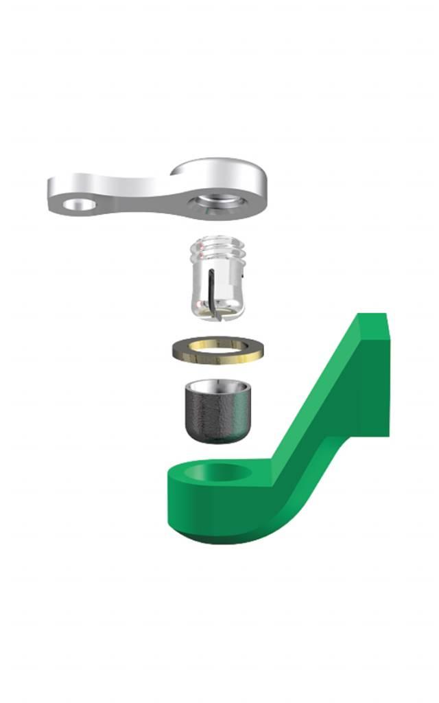 ALPHADENT NV RE 0175 TI - CEKA REVAX M2: Matrize zum Einkleben, Retention für Kunststoffverankerung mit Extension