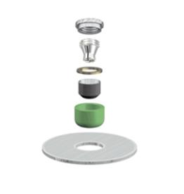 ALPHADENT NV OL 0895 TI - CEKA AXIAL REVERSE M3 & CAD/CAM - Matrize zum Einkleben. Patrize zur Verankerung in Kunststoff.