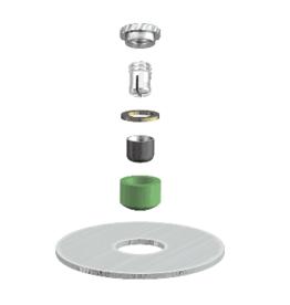 ALPHADENT NV RE 0795 TI - CEKA AXIAL REVERSE M2 & CAD/CAM - Matrize zum Einkleben. Patrize zur Verankerung in Kst.
