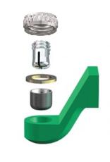 ALPHADENT NV RE 0185 TI - CEKA REVAX M2: Matrize und Retention zum Einkleben