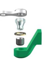 ALPHADENT NV OL 0275 TI - CEKA REVAX M3: Matrize zum Einkleben, Retention für Kunststoffverankerung mit Extension