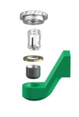 ALPHADENT NV RE 0195 TI - CEKA REVAX M2: Matrize zum Einkleben, Retention für zirkuläre Kunststoffverankerung