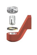 ALPHADENT NV RE 0185 IR - CEKA REVAX M2: Matrize zum Angießen an EM, Retention zum Einkleben