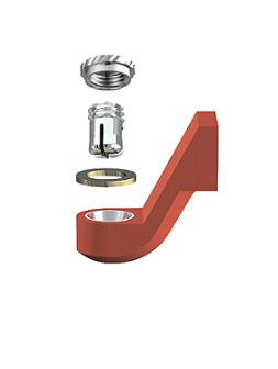 ALPHADENT NV RE 0195 IR - CEKA REVAX M2: Matrize zum Angießen an EM, Retention für zirkulären Kunststoffverankerung