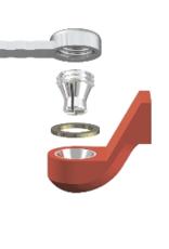 ALPHADENT NV OL 0275 IR - CEKA REVAX M3: Matrize zum Angießen an EM, Retention für Kunststoffverankerung mit Extension