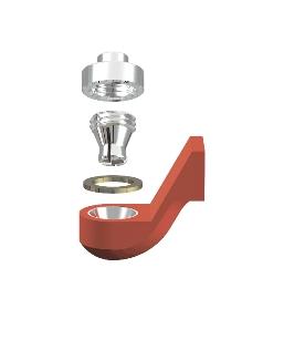 ALPHADENT NV OL 0261 IR CEKA REVAX M3: Matrize zum Angießen an EM, Retention zu Löten oder Lasern