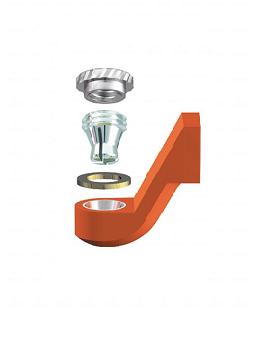ALPHADENT NV OL 0295 IR - CEKA REVAX M3: Matrize zum Angießen an EM, Retention für zirkuläre Kunststoffverankerung