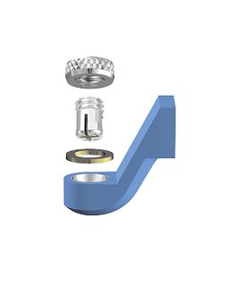 ALPHADENT NV RE0185 NP - CEKA REVAX M2: Matrize zum Angießen an NEM, Retention zum Einkleben