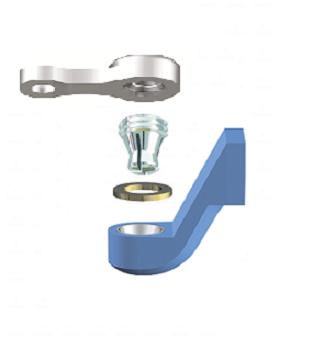 ALPHADENT NV OL 0275 NP - CEKA REVAX M3: Matrize zum Angießen an NEM, Retention für Kunststoffverankerung  mit Extension