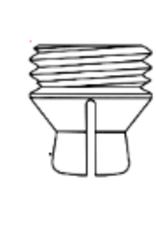 ALPHADENT NV 724 CX - CEKA M3 Druckknopf starr, alte Form (zusätzlicher Gewindegang)