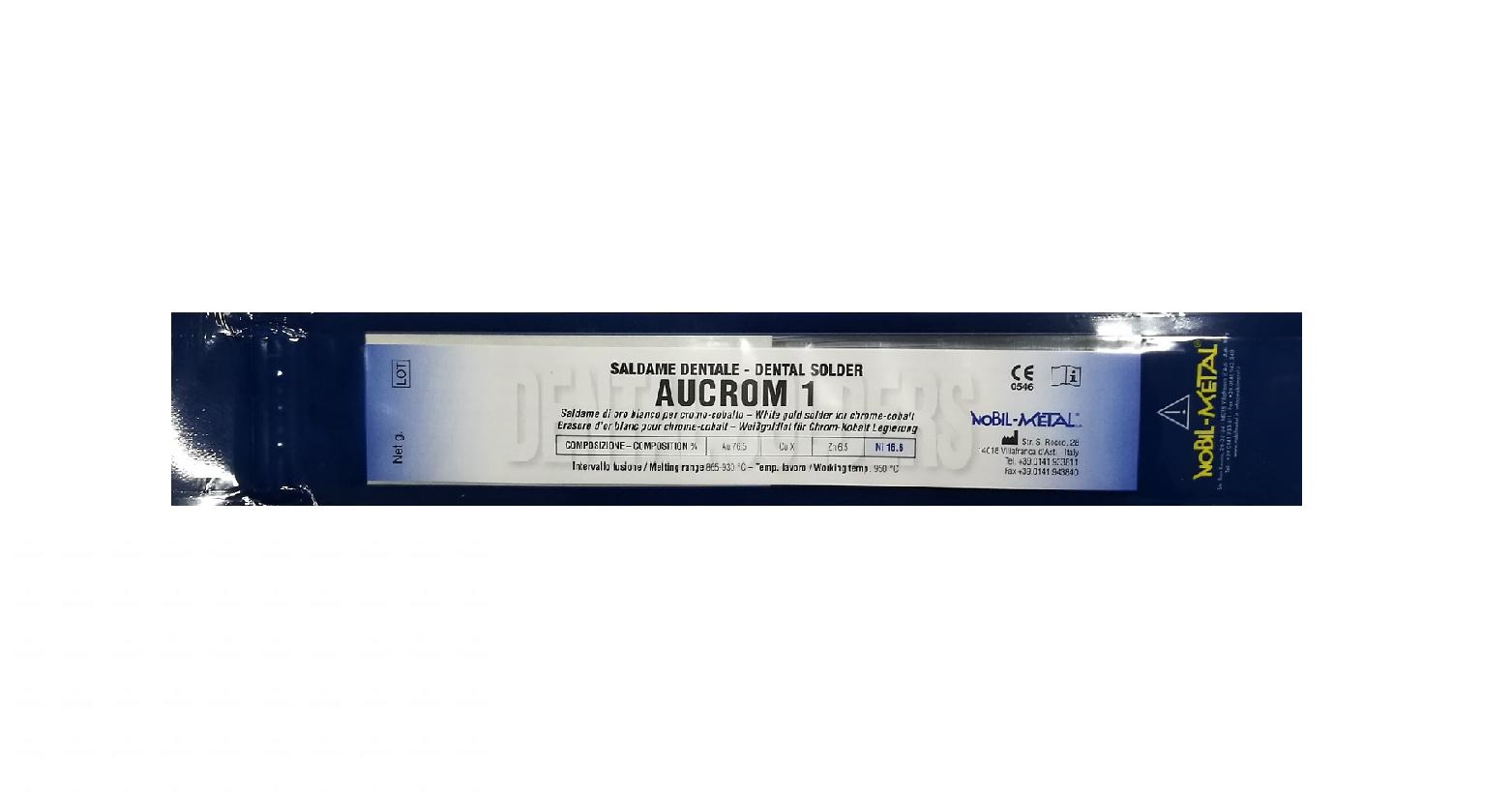 NOBIL METAL AUCROM 1 LV22 (CEKA SOL  W CS22) - Lot in Röhrenform mit integriertem Flussmittel, weiß 865-930°C