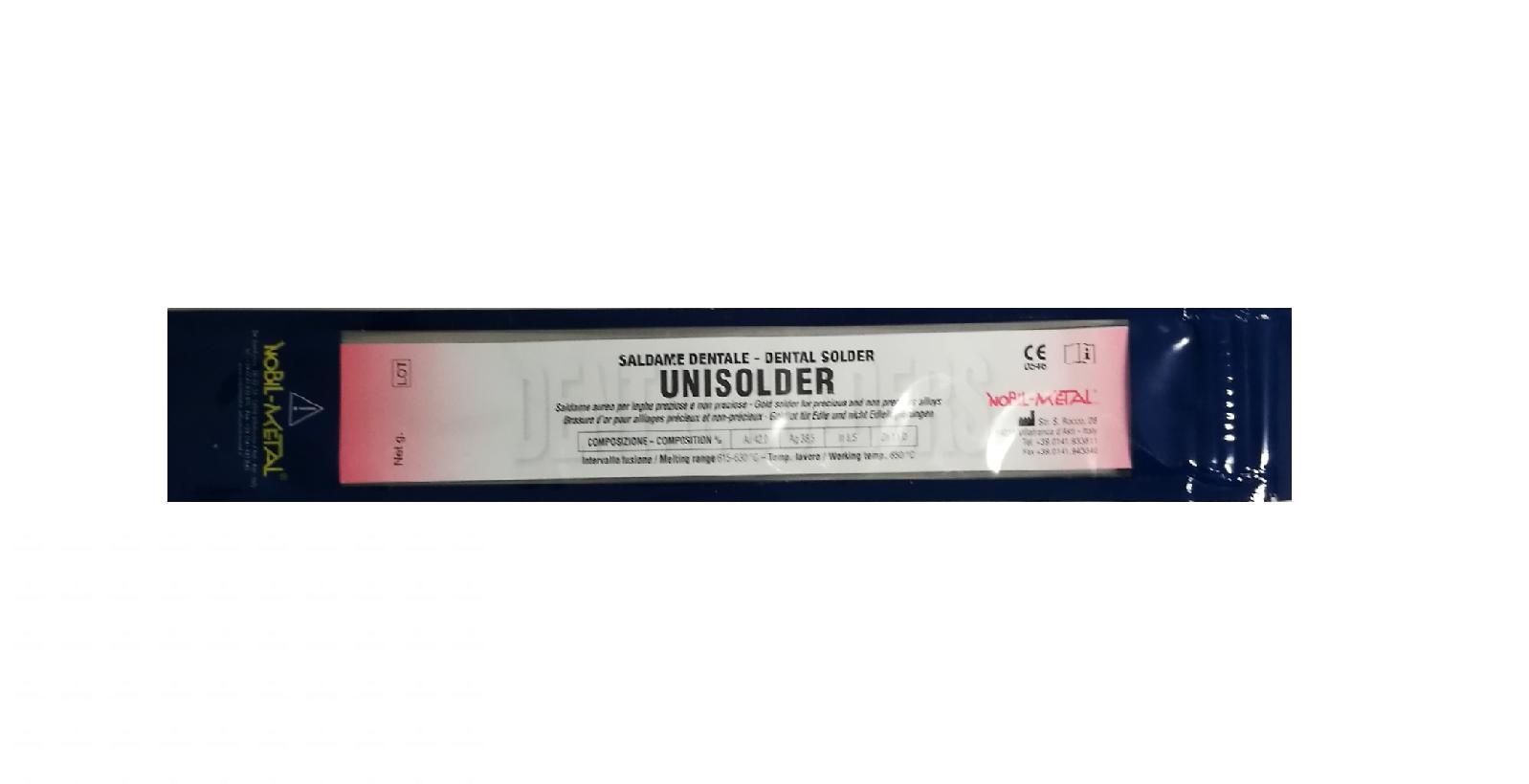 NOBIL METAL UNISOLDER LV21 (CEKA SOL  L CS21) - Lot in Röhrenform mit integriertem Flussmittel, gelb 615-630 °C