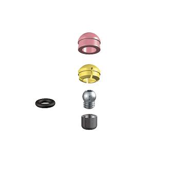 ALPHADENT NV 1277 CC - PRECI-CLIX P-V CAD/CAM: Dublierhilfsteil für Modellguss, Patrize mit Gewinde zum Einkleben