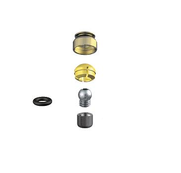 ALPHADENT NV 1276 CC - PRECI CLIX TI-V CAD/CAM: Matrizengehäuse zum Einpolymerieren, Patrize mit Gewinde zum Einkleben