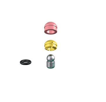 ALPHADENT NV 1272 CC - PRECI-CLIX P-TI CAD/CAM: Dublierhilfsteil für Modellguss, Titanpatrize zum Einkleben