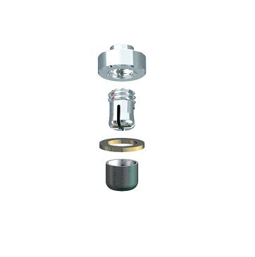 ALPHADENT NV RE 0161 TI CC - CEKA REVAX M2 CAD/CAM: Matrize zum Einkleben, Retention zum Löten/Lasern