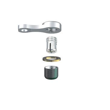 ALPHADENT NV RE 0175 TI CC - CEKA REVAX M2 CAD/CAM: Matrize zum Einkleben, Retention für Kunststoffverankerung mit Extension