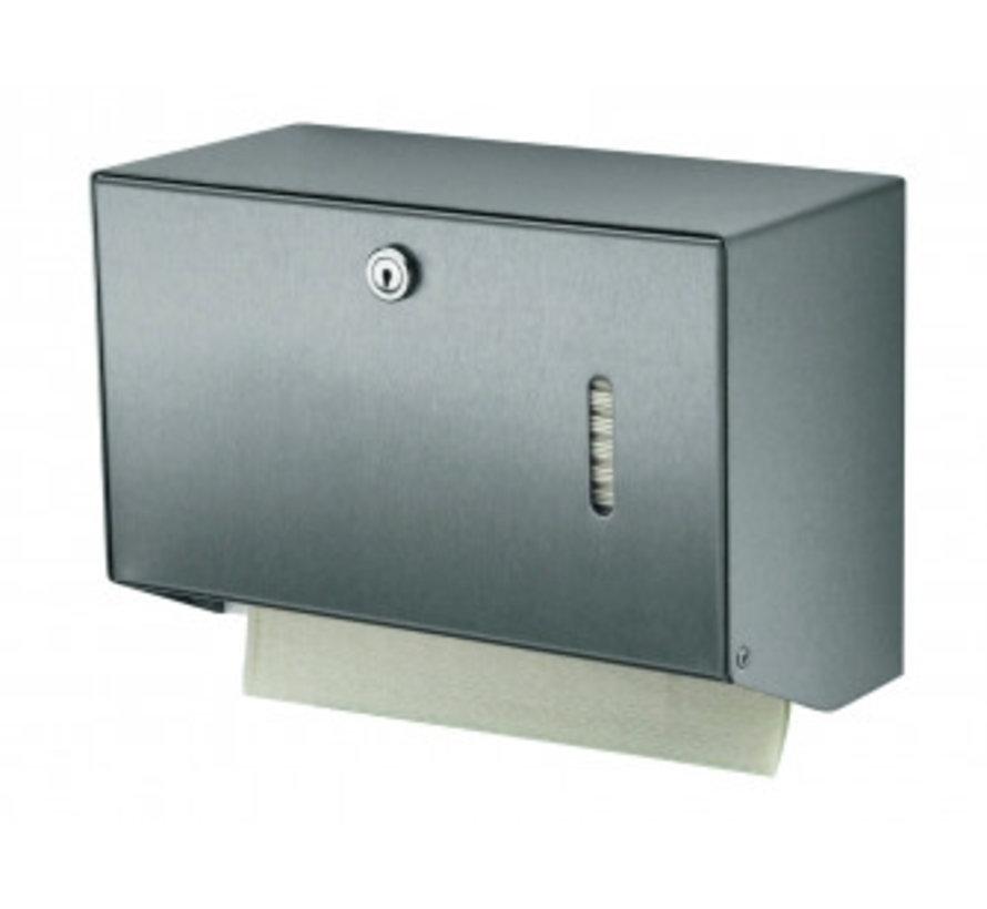 Towel dispenser stainless steel small