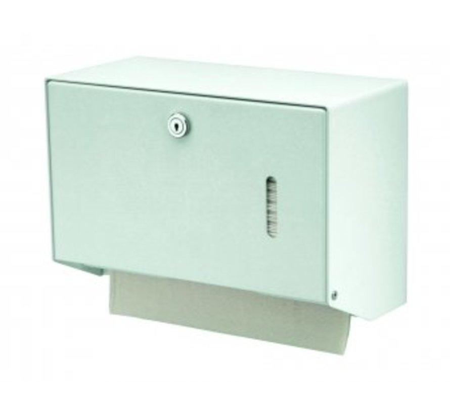 Handdoekdispenser wit klein