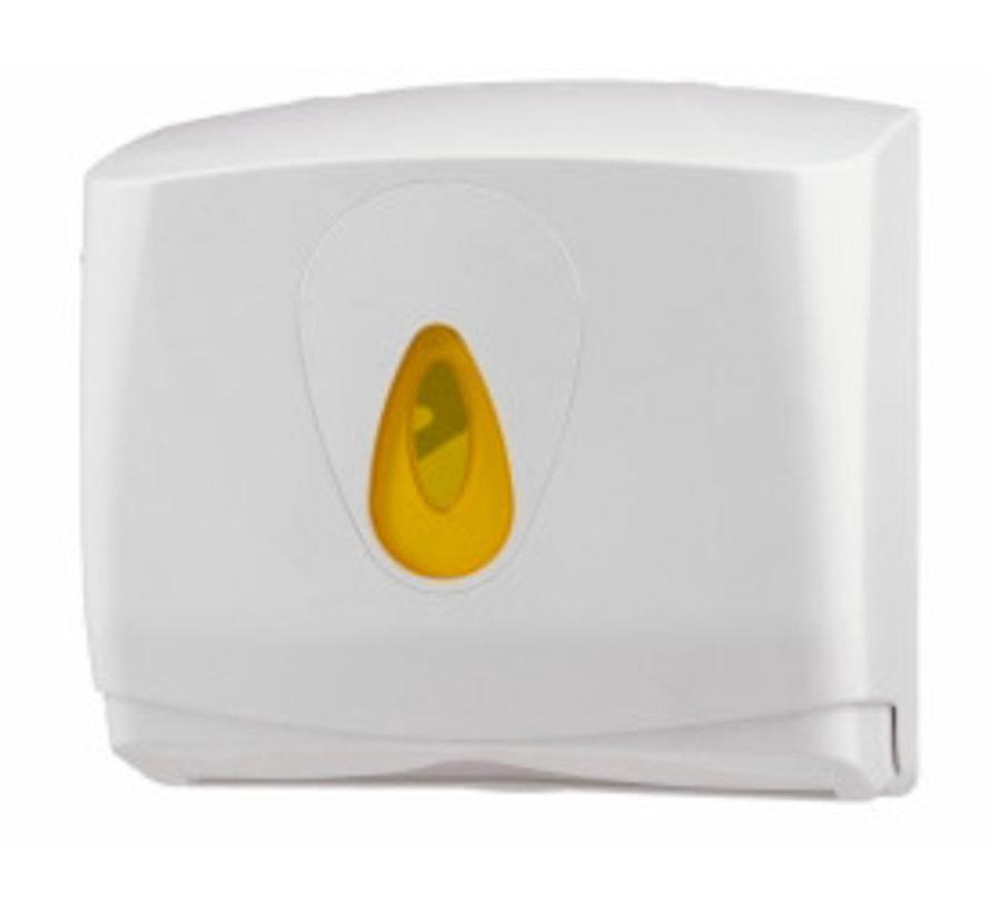 Handdoekdispenser midi kunststof klein