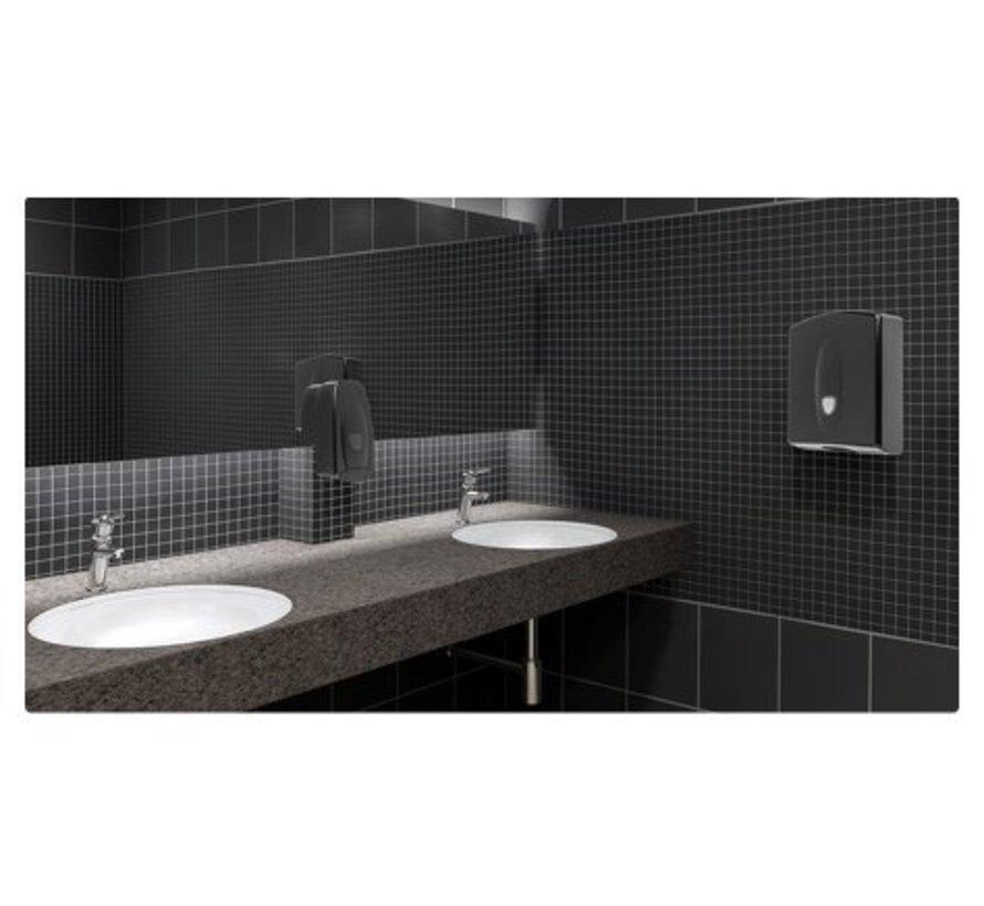 Handdoekdispenser midi kunststof zwart