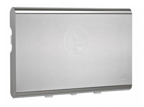 Mediclinics Baby changing table horizontal stainless steel