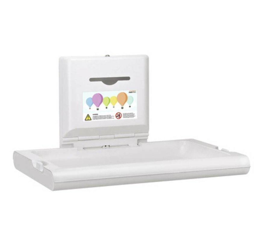 Baby changing table horizontal white