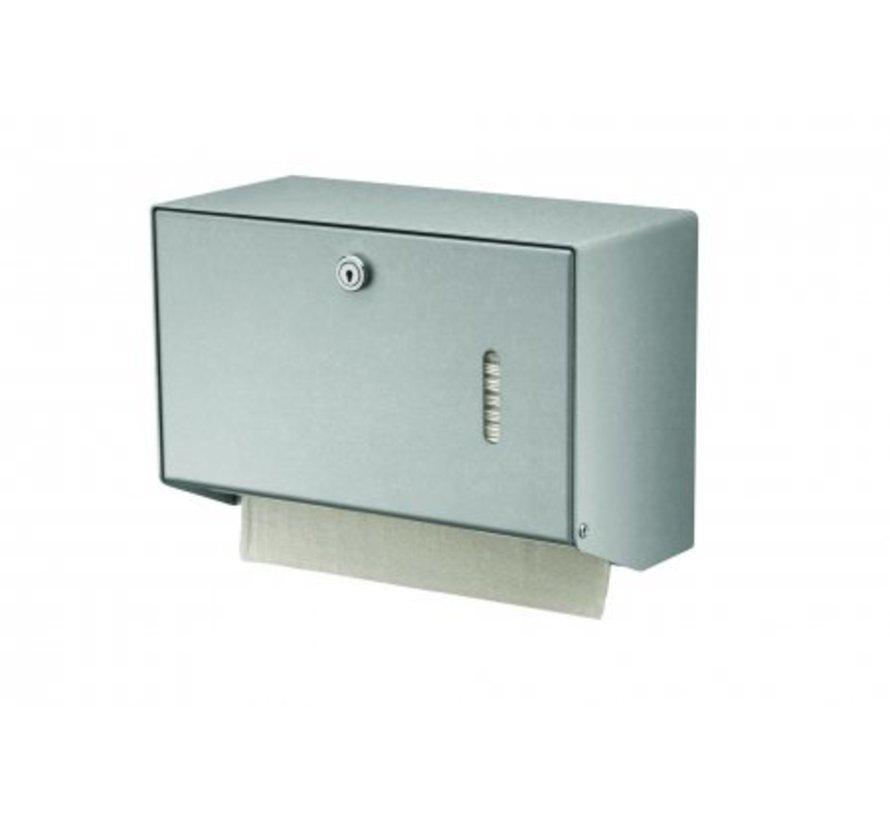 Handdoekdispenser aluminium klein