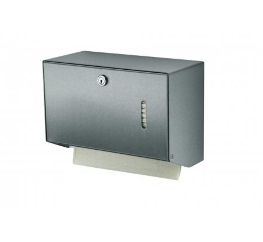 Handdoekdispenser RVS klein