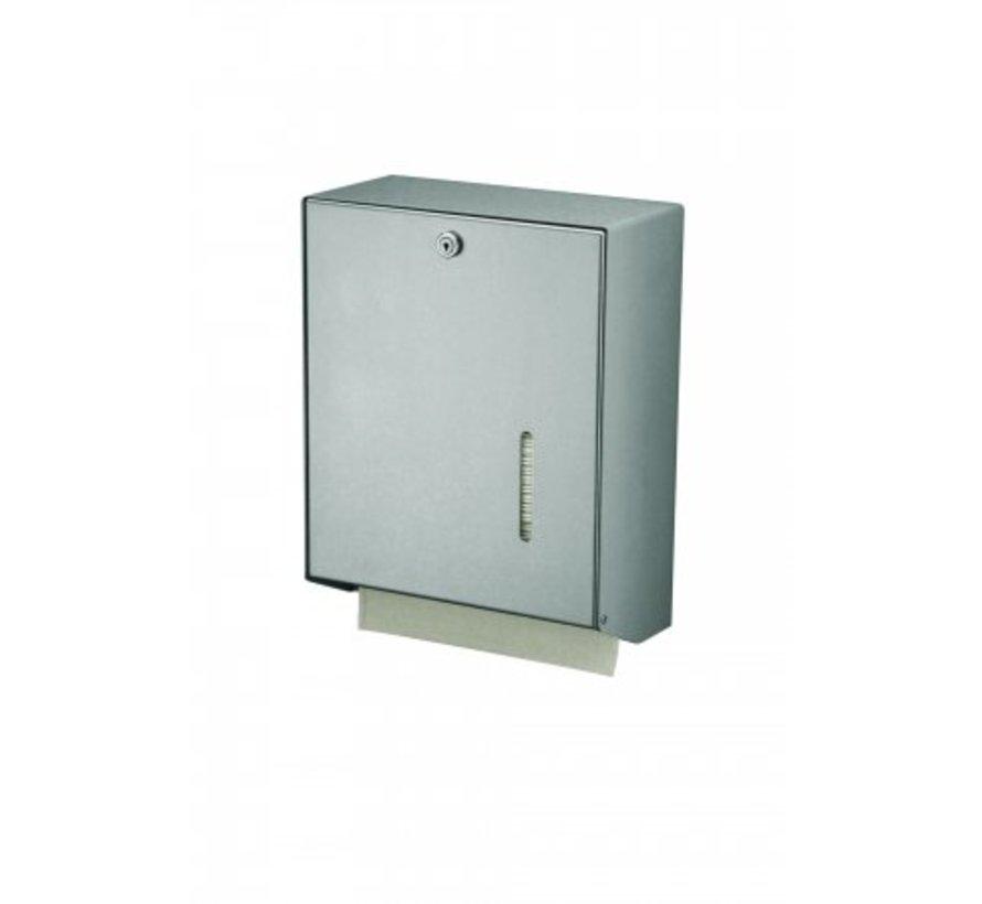 Handdoekdispenser aluminium groot