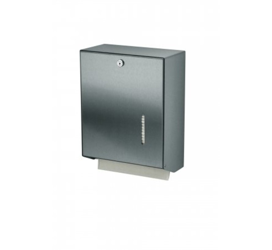 Hand towel dispenser stainless steel large