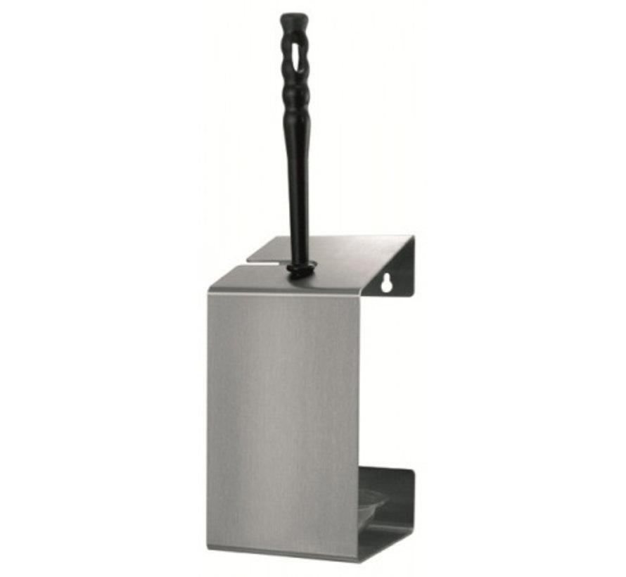 Porte-brosse de toilette en acier inoxydable