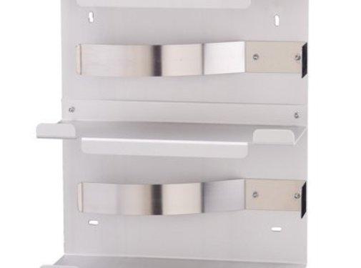MediQo-line Distributeur de gants duo en aluminium