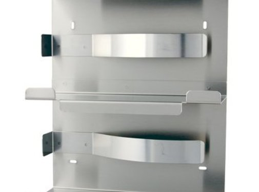 MediQo-line Distributeur de gants duo en acier inoxydable