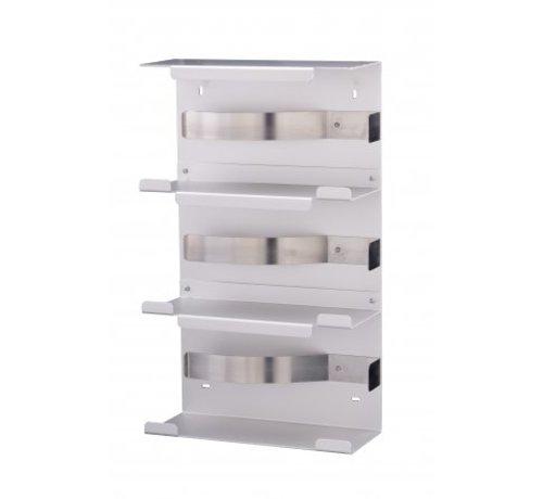 MediQo-line Handschoendispenser trio aluminium