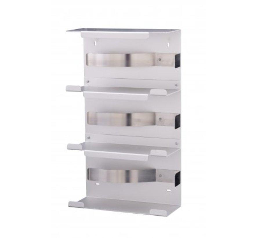 Glove dispenser trio aluminum