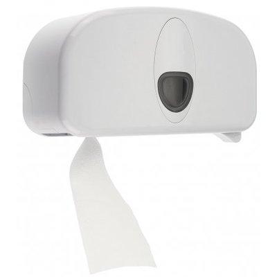 PlastiQline 2020 Support à 2 rouleaux en plastique blanc (sans tube)