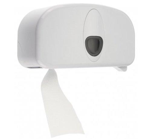 PlastiQline 2020 2-roll holder plastic white (tubeless)