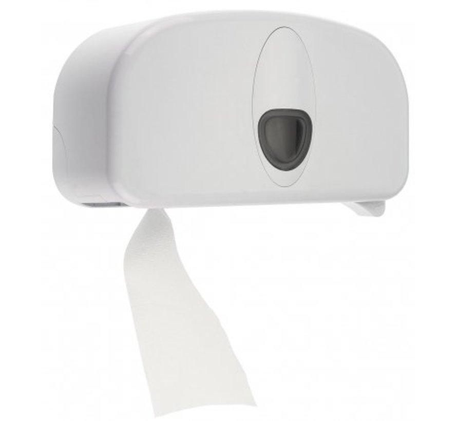 Support à 2 rouleaux en plastique blanc (sans tube)