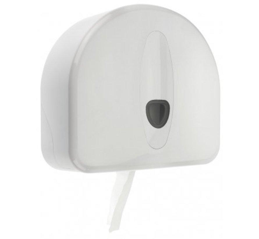 Distributeur de rouleaux jumbo mini + rouleau de repos en plastique blanc