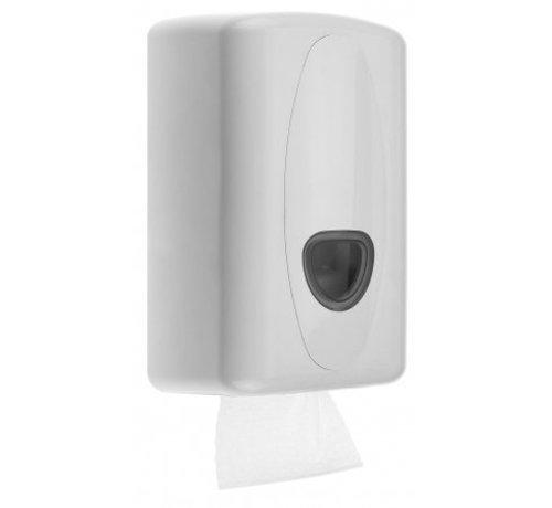 PlastiQline 2020 Distributeur de papier hygiénique en plastique blanc