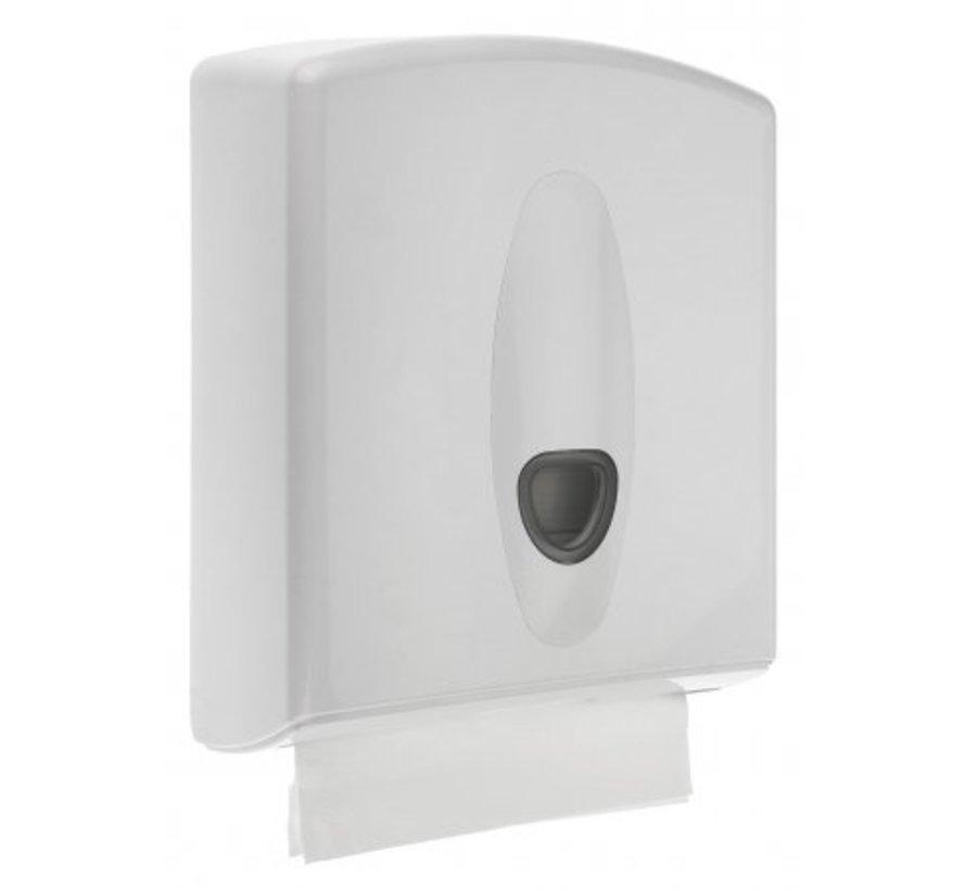 Distributeur d'essuie-mains midi en plastique blanc