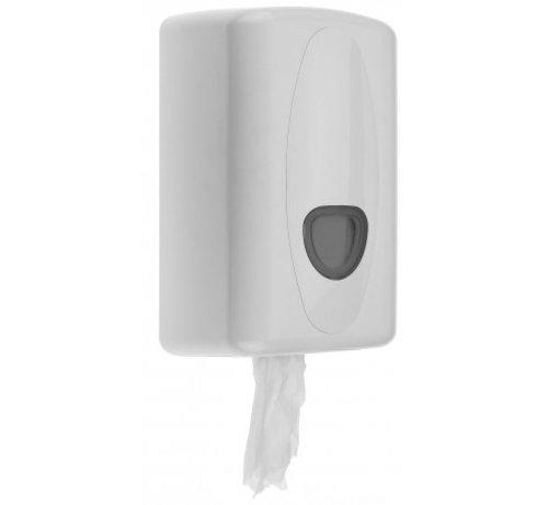PlastiQline 2020 Distributeur de rouleaux de nettoyage mini en plastique blanc